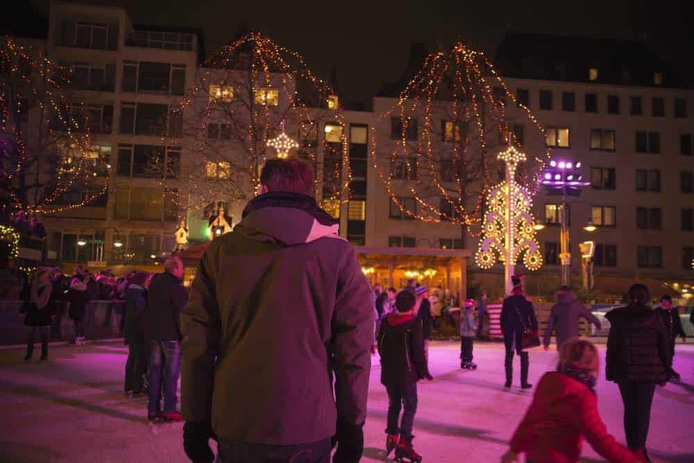 Schaatsen op Gustaf Grundes Platz